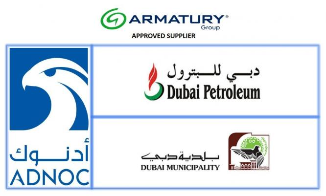 ARMATURY Group has accomplished the demanding quality requirements of the ADNOC group, Dubai Petroleum and DUBAI MUNICIPALITY